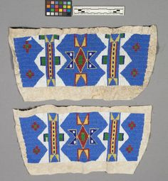 Sioux beaded panels for storage bags. NMNH  ac