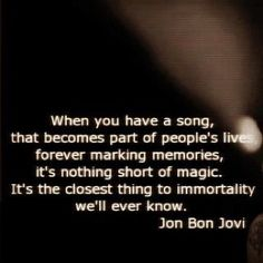 Jon Bon Jovi you're good for my soul...since my childhood until now...forever and always :)