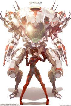 Done by yandere-yandere on deviantart. RWBY and overwatch crossover Overwatch Memes, Overwatch Fan Art, Overwatch Comic, Art Anime, Anime Manga, Rwby Anime, Overwatch Skin Concepts, Science Fiction, Arte Robot