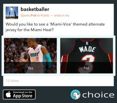 What do you think of a Miami Vice themed jersey for the @MiamiHeat? Voice on #choice https://choiceapp.co/basketballer/post/6474