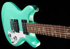 PRS Mira Sea Foam Green with Birds. I've always wanted this guitar in this exact color. If I ever get enough money to buy this I'll make sure to get one identical to this! So, so beautiful. A must have PRS. It's got such a unique tone that's perfect for any genre of music.