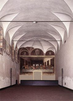 "Leonardo da Vinci, ""Il Cenacolo or The Last Supper"" in the Church of Santa Maria delle Grazie, Milan, Italy."