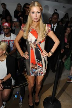 Paris Hilton Front Row at Jeremy Scott