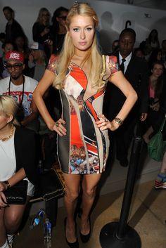 Paris Hilton Front Row at Jeremy Scott