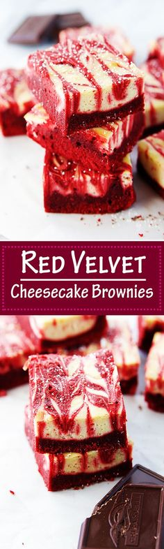 What do you get when you combined red velvet and cream cheese? The most delicious cheesecake brownies.