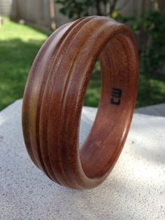 Handcrafted Unique Wood Bangle made from  Rosewood by reborntimber