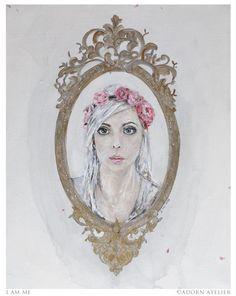 I AM Me  self portrait  acrylic on canvas