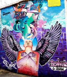 Bogotá Colombia - Street Art & Graffiti – This is from the El Centro (Old Downtown) district of Bogotá.  The street art and graffiti is on par with the best in the world.  World class artists have come to Bogotá!  Original Photography by R. Stowe.