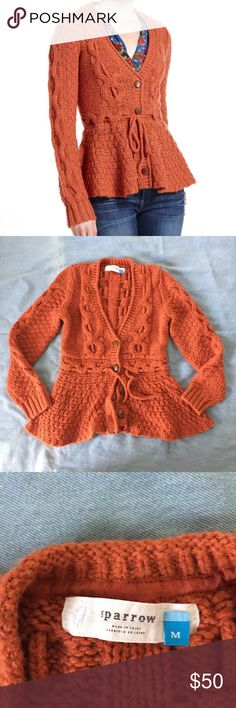Anthropology Sparrow Stitchy Peplum Cardigan This cardigan is in good condition and is so stylish for these upcoming cooler months. Anthropologie Sweaters Cardigans