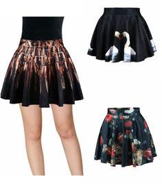 High Waist Pleated Floral Short Mini Skirt