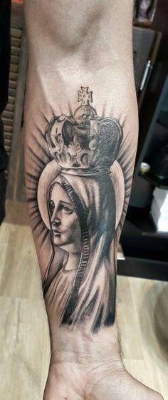 Nossa senhora Feita no Kiko Tattoo Barra