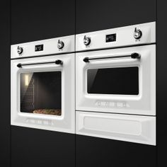 Smeg Victoria in White - Oven, Grille & Warming Drawer