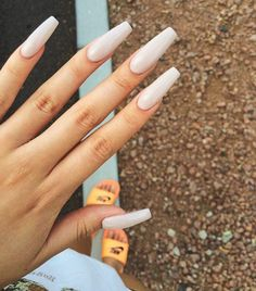 Opting for bright colours or intricate nail art isn't a must anymore. This year, nude nail designs are becoming a trend. Here are some nude nail designs. Nude Nails, Acrylic Nails, Acrylics, Ambre Nails, Gorgeous Nails, Pretty Nails, Hair And Nails, My Nails, Super Cute Nails