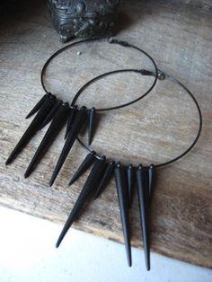 Thorns - Spiked hoop earrings