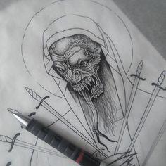 Ублюдок #tattoo #tattoos #dotwork #blackwork #tattooing #art #sketch #illustration #drawing #draw #ink #velesova #darkside