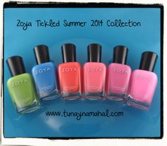 This Friday I will have a review of the Zoya Tickled Collection on the blog! [www.tunaynamahal.com]