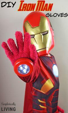 DIY Iron Man Gloves {Dollar Store Craft}