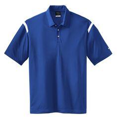 Nike Men's Royal Blue/White Dri-FIT S/S Shoulder Stripe Polo