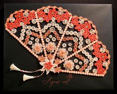 This quilling fan is far by the prettiest i have seen so far.