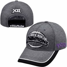 pretty nice 81c4b fe7bb Mens TCU Horned Frogs Top of the World Gray 2014 Big 12 Football Champions  Locker Room Adjustable Hat