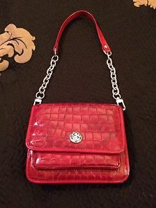 Brighton Red Patent Leather Twister Pouch Handbag | eBay
