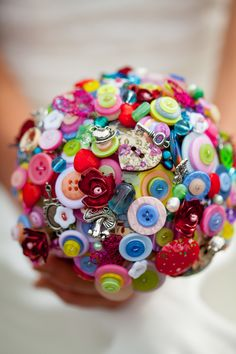 Alice in Wonderland button bouquets £120.00