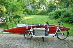 Photo by Ben Geo - posted by i ride bicycles Bullitt Cargo Bike, Canoe Accessories, Velo Cargo, Powered Bicycle, Bike Trailer, Bike Style, Bicycle Design, Kayak Fishing, Outdoor Fun