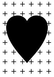 Hart-zwart | * Symbolen | abcd | kaarten | hartje