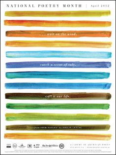 Phillip Levine - 2012 National Poetry Month poster - @Amy Yam, you should order one for your library pronto - they're free!