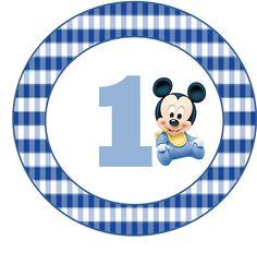 Kit Mickey Primer Año, para Imprimir Gratis. | Ideas y material ...