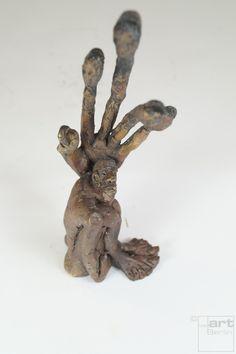 Linke - Bronze Plastik - Skulptur von oben - Tim David Trillsam Bildhauer Künstler
