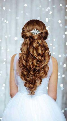 25 Elegant Half Updo Wedding Hairstyles: #20.