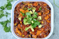 Slow Cooker Three-Bean Chili with Quinoa