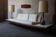 Modern Glamour!  Adrian Pearsall Mid Century Modern Platform Sofa 830-S (Craft Associates, U.S.A, 1950's) by Kinzco, via Flickr