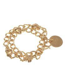 Alexander McQueen   Gold Skull Chain Bracelet