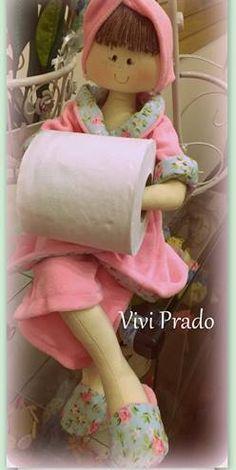 Facilite Sua Arte: Boneca porta rolo de papel higiênico