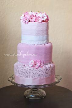 Fondant Style Diaper Cake Tutorial DIY - SweetAprils.com