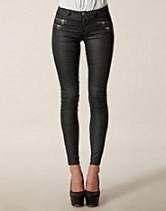 Olivia Regular Zip Leggin - Only - Zwart - Jeans - Kleding - NELLY.COM Mode online
