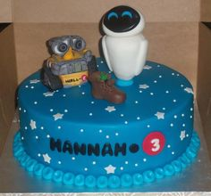 Wall E and Eva Birthday Cake