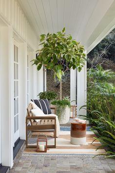 Indoor Outdoor Rugs, Outdoor Sofa, Outdoor Living, Outdoor Decor, Outdoor Furniture Small Space, Small Space Solutions, Pottery Barn Teen, Small Garden Design, Small Patio