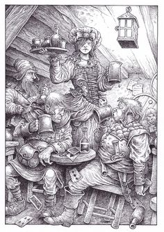 SOLD - NO LONGER AVAILABLE - New Collector's Edition interior illustration (section 82)  by Gary Chalk for Megara Entertainment