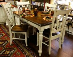 Kitchen table:  This is exactly what I want our kitchen table to look like!  Getting started this week!