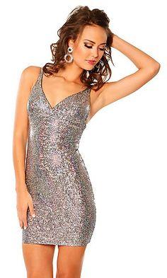 Sheath V-neck Short Lace Dress $199