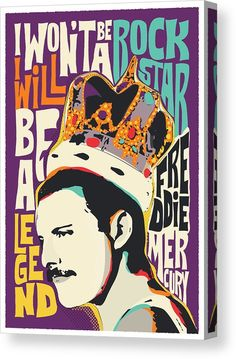 Freddie Mercury Pop Art Quote Poster by BONB Creative. All posters are professionally printed, packaged, and shipped within 3 - 4 business days. Choose from multiple sizes and hundreds of frame and mat options. Canvas Quotes, Art Quotes, Canvas Art, Canvas Prints, Art Prints, Freddie Mercury Quotes, Queen Freddie Mercury, Queen Poster, Queen Art