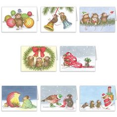 """""""8 diff Christmas Cards + 8 Env"""", Stock #: CC-16, from House-Mouse Designs®. This item was recently purchased off from our web site. Click on the image to see more information."""