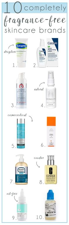 Completely fragrance free skincare is hard to find. Some brands will have a few products that are fragrance free, some brands will claim fragrance free when there's something else in the bottle like essential oils (true story!). This my friend is a list of 10 skincare brands you can trust to be 100% fragrance free (it also doesn't mean they smell bad!)... wp.me/p6LuQS-Zz