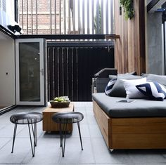 On The Block triple Threat last night we saw the final room reveals. the Terraces. Outdoor Living Areas, Outdoor Spaces, Outdoor Ideas, Entertainment Furniture, Small Backyard Landscaping, Terraces, My Dream Home, Outdoor Furniture Sets, Living Room