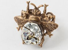 Steampunk Ring Vintage silver watch movement by steampunknation, $45.00   #steampunkring