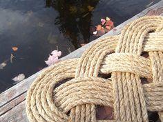 Nautical Knotwork Rope Front Door Mat