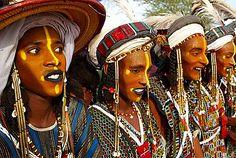 Wodaabe-Bororo men, Gerewol festival, Niger.